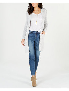 Petite Chenille Knit Open Front Cardigan, Created For Macy's by Style & Co