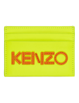 Yellow Logo Card Holder by Kenzo