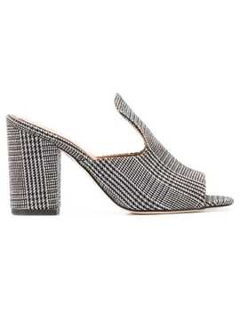Houndstooth Open Toe Sandals by Paris Texas