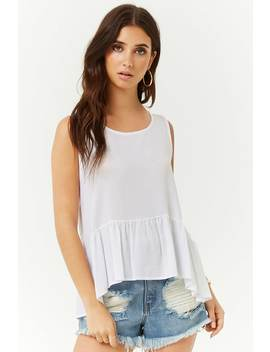 Tie Back Ruffled Top by Forever 21