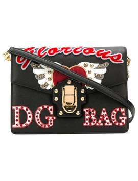 Lucia Embellished Shoulder Bag by Dolce & Gabbana
