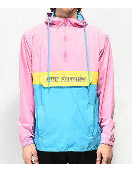 Odd Future Neon Colorblock Pink, Yellow &Amp; Blue Anorak Jacket by Odd Future