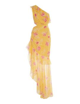 Vi One Shoulder Floral Print Silk Crepe De Chine Dress by Amur