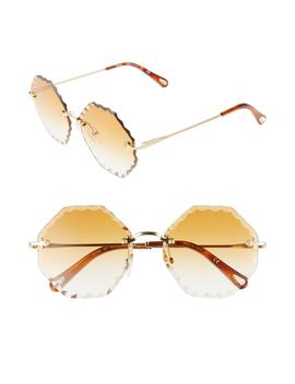 Rosie 58mm Gradient Octagonal Rimless Sunglasses by ChloÉ