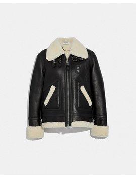 Shearling Aviator Jacket by Coach