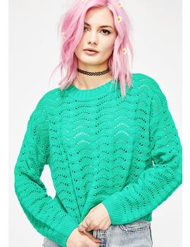 Lush Meadow Knit Sweater by Lunik