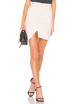 The Tomcat Slide Mini Fray Skirt by Mother