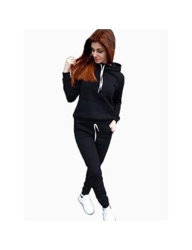 Women's 2pcs Hoodies Sweatshirt Ladies Joggers Lounge Wear Tracksuit Sport Suit by Womens Activewear