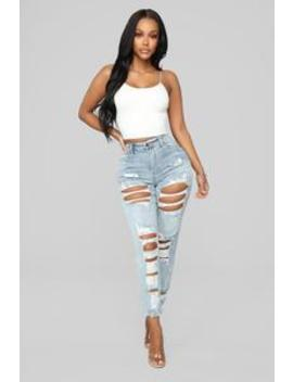 Richmond Distressed Boyfriend Jeans   Light Blue Wash by Fashion Nova