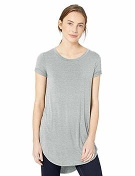 Daily Ritual Women's Jersey Short Sleeve Open Crew Neck Tunic by Daily Ritual