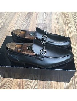 Gucci 'jordaan' Horse Bit Loafer Men's Black Leather Gucci Size 6.5 Us Size 7.5 D by Gucci