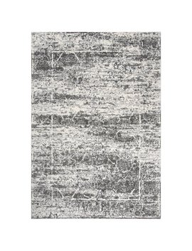 Williston Forge Barger Gray/White Area Rug by Williston Forge