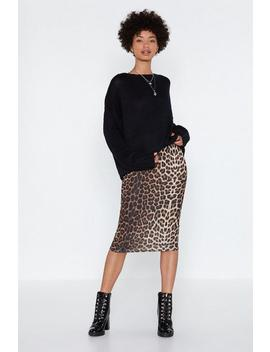 Give 'em Cat Itude Leopard Skirt by Nasty Gal
