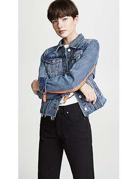 Zip Detail Denim Jacket by Blank Denim