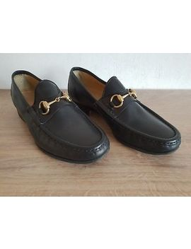 Authentic Gucci Horsebit Leather Loafers Shoes Made In Italy Size   40.5 E by Gucci