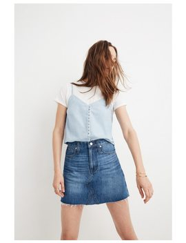 Rigid Denim A Line Mini Skirt In Lakeline Wash: Eco Edition by Madewell