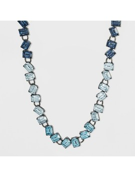 Short Square Stone Necklace   A New Day™ Blue by A New Day