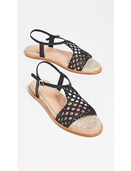 Sandrine Woven Flat Sandals by Paloma Barcelo