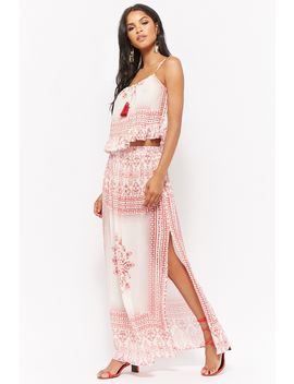 R By Raga Ornate Print Maxi Skirt by Forever 21