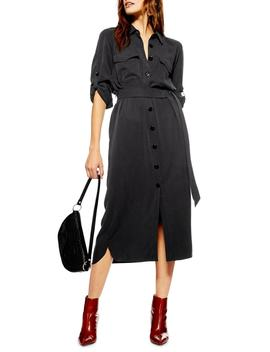 Utility Midi Shirtdress by Topshop