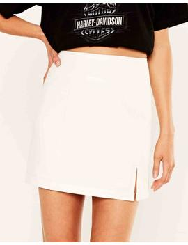Split Hem Mini Skirt by Glassons