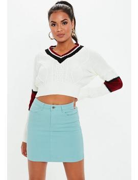Light Blue Denim Superstretch Skirt by Missguided