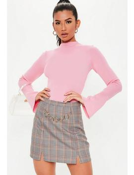 Grey Ring Detail Belt Micro Mini Skirt by Missguided