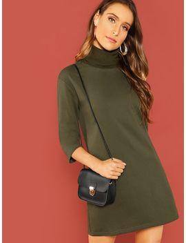 3/4 Sleeve Tee Dress by Shein