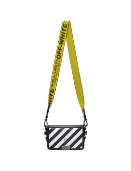 Black Mini Diagonal Flap Bag by Off White