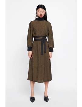 Combined Structured Dress  New Inwoman New Collection by Zara