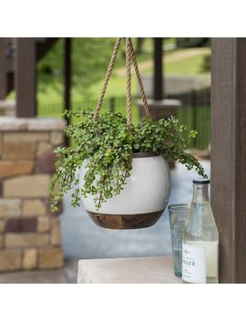 Belham Living Hayden Ceramic Hanging Planter by Belham Living