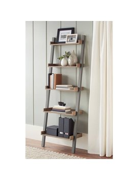 Better Homes & Gardens Bedford 5 Shelf Leaning Bookcase, Multiple Colors by Better Homes & Gardens