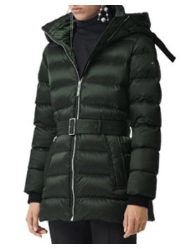 Limehouse Belted Puffer Coat by Burberry