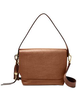 Maya Flap Pebble Leather Crossbody by Fossil