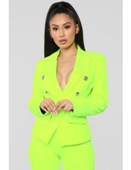Eye Catcher Suit Set   Neon Yellow by Fashion Nova