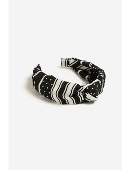 **Polka Dot Knot Headband by Topshop