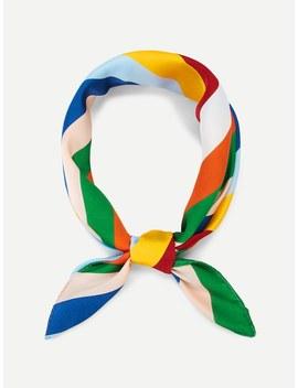 Colorblock Striped Bandana by Sheinside