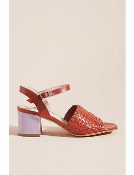 Miss L Fire Miro Woven Block Heels by Miss L Fire