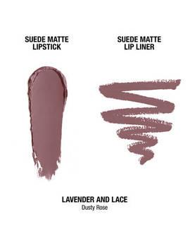 Suede Matte Lip Kit   Lavender & Lace                                 Suede Matte Lip Kit   Lavender & Lace                                          Suede Matte Lipstick                                                           Suede Matte Lip Liner by Nyx Cosmetics