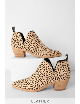 Sonni Leopard Calf Hair Ankle Booties by Dolce Vita