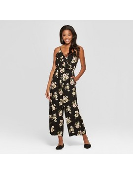 Women's Floral Print Strappy Ruffle Wrap Jumpsuit   Xhilaration™ by Xhilaration