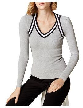 Sporty Rib Knit Sweater by Karen Millen