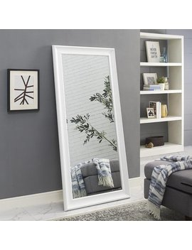 "Naomi Home Framed Mirror Color:White,Size:65"" X 31"" by Naomi Home"