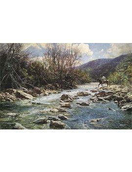 """""""Upper Frio"""" Bob Wygant Western Fine Art Giclee Canvas by Ebay Seller"""