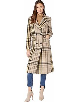 Romeo & Juliet Couture Womens Plaid Long Coat by Romeo & Juliet Couture