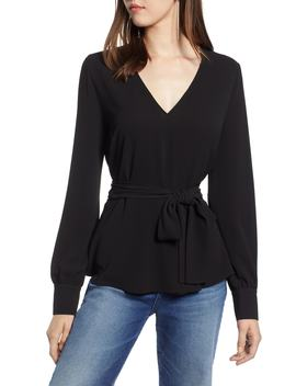 Faux Wrap Top by Halogen®