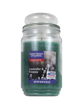 Better Homes And Gardens Jar Candle, Lavender And Freesia, 18 Oz by Better Homes & Gardens
