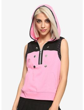 Disney Kingdom Hearts Iii Kairi Girls Sleeveless Hoodie Hot Topic Exclusive by Hot Topic