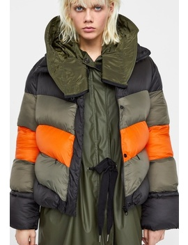 Zara Block Color Puffer Jacket Nwt/New by Zara