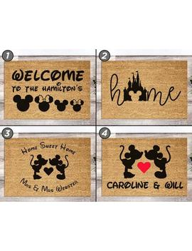 2 Sizes   Personalised Disney Doormat   Disney Home Decor   Custom Door Mat   Gifts For Disney Lovers   Gift For Her Housewarming New Home by Etsy